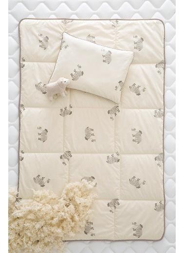 Hibboux 95x145 Emilie Yün Bebek Yorganı 400 gr/m2 Beyaz